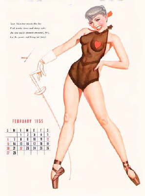 z_PINUP_Fencing_GeorgePetty _1955
